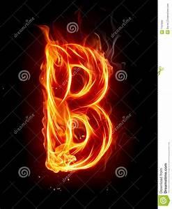 Fire letter B stock illustration. Image of alphabet ...