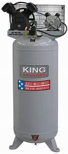 King Industrial KC-6160V1 Air Compressor, Stationary, 150