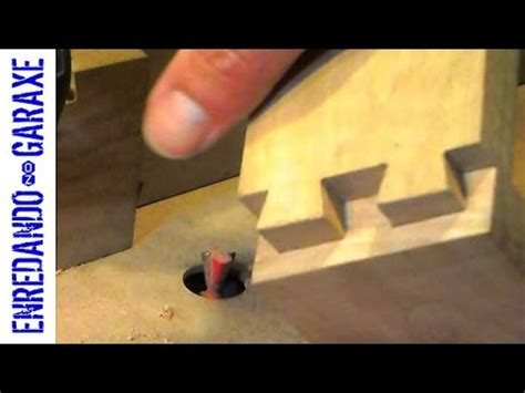cut dovetail joint   router table youtube