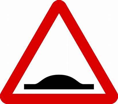 Road Sign Hump Signs Traffic Warning Svg