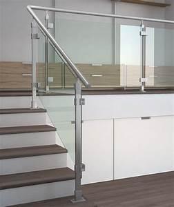 rampe d'escalier en verre tid inox garde corps