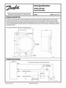 Danfoss Acw112a1292 Level Controller Installation Guide