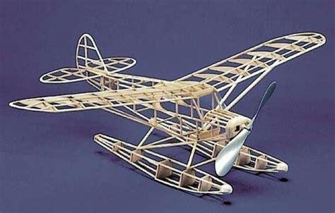 herr piper super cub float plane   balsa wood model airplane kit laser cut ebay