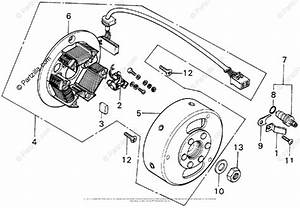 Honda Motorcycle Models With No Year Oem Parts Diagram For Alternator