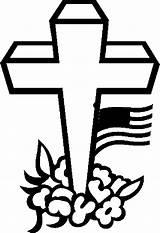 Coloring Cross Pages Memorial Flag Patriotic Flags Coloringbookfun Veterans Crosses Printable Updated sketch template