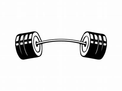 Barbell Svg Clipart Equipment Workout Lifting Fitness