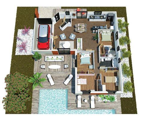 25 best ideas about plan maison moderne on plan construction maison maison moderne