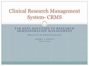 clinical research management system With clinical research manager