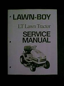 Lawn Boy Lt Lawn Tractor Riding Mower Service Manual