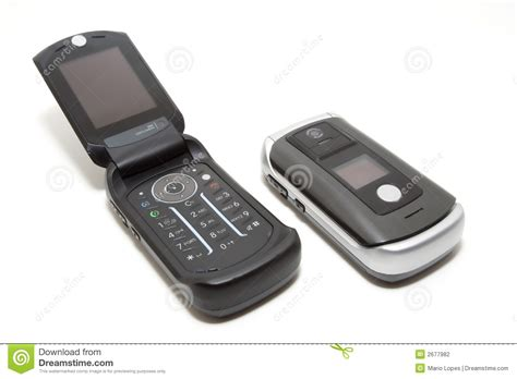 tech clamshell mobile phones stock photography image