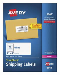 avery 5963 shipping labels with trueblock white school With avery shipping labels 2x4