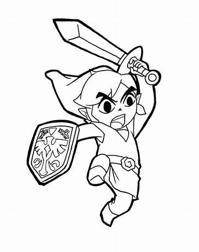 Coloring Zelda Link Pages Printable