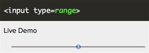 html5 form sliders the range input lionleaf llc