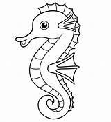 Seahorse Coloring Printable Pages Happy Seahorses sketch template
