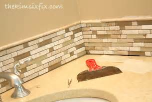 inexpensive kitchen backsplash updating a vanity with a custom tile backsplash the six fix