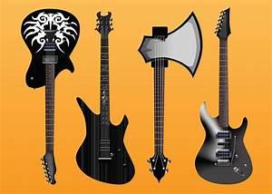 Electric Guitars Vector Freebies Vector Art  U0026 Graphics