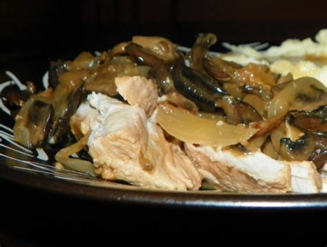 mushroom pork tenderloin  crock pot recipe foodcom