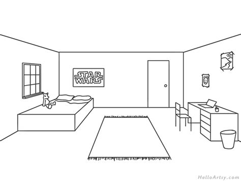 Drawing A Bedroom In One Point Perspective by One Point Perspective Drawing Step By Step Guide For