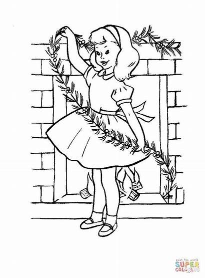 Coloring Christmas Decorating Pages Jenny Decorations Printable