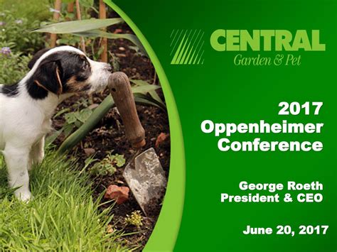 central garden and pet central garden pet company cent presents at