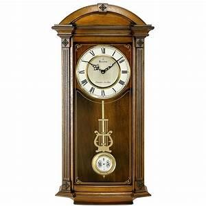 Pendulum wall clock with Triple Chime Bulova Hartwick
