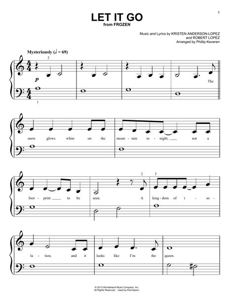 Piano lessons music lessons guitar lessons guitar tips beginner piano music easy piano songs keyboard tutorial piano tutorial keyboard lessons more information. Let It Go   Sheet Music Direct