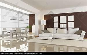 Wohnzimmer Mit Essbereich : modernes wohnzimmer mit essbereich rendering lizenzfreies bild 4276013 bildagentur ~ Watch28wear.com Haus und Dekorationen