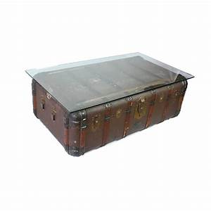 antique steamer trunk coffee table side table circa 1900 With decorative trunk coffee table