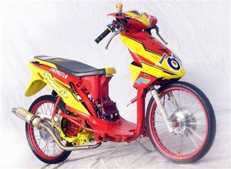 modifikasi motor drag  keren  indonesia