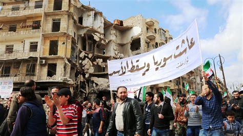 syrien sie demonstrieren wieder zeit