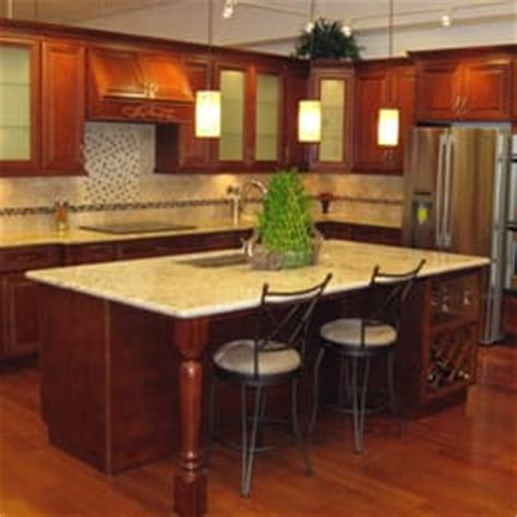 Kz Kitchen Cabinets San Jose Ca by Sycamore Cherry Cabinets With Giallo Regal Granite
