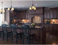 Kitchen With Stone Backsplash Dark Wood Floors Dark Cabinets Dark Ideas Kitchen With Black Appliances Kitchen Mudroom Ideas House Ideas Kitchen Cabinet Knobs And Pulls Decorating Ideas Gallery In Kitchen Pictures Of Kitchens Traditional Gold Kitchen Cabinets