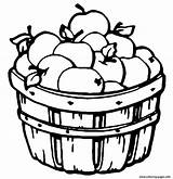 Apple Coloring Pages Barrel Printable Fruit sketch template