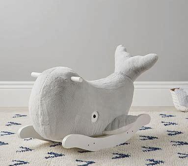 gray whale nursery rocker pottery barn kids