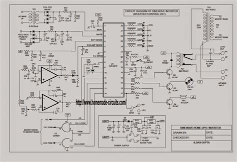 sinewave ups circuit using pic16f72 part 1 electronic