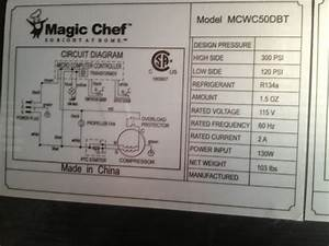 I Have A Magic Chef Wine Fridge Model Mcwc50dbt  Motor