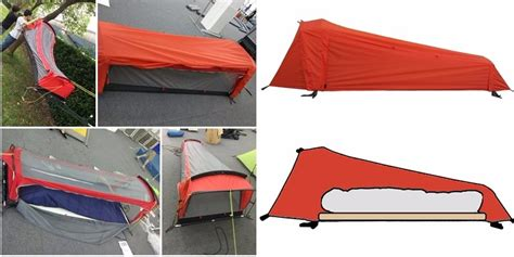 Tent Hammock Combination by Suspended Tent Can Turn Into A Hammock And Sleeping Bag