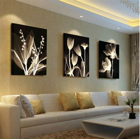 living room decorative painting modern sofa background flower design wall painting unframed