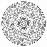 Coloring Mandalas Calm Volume Mandala Finished sketch template