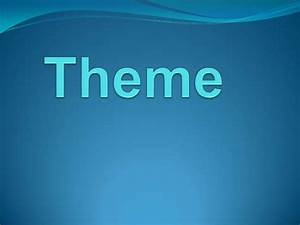 Theme Used In Literature