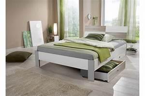 Lit 2 Personnes But : lit 2 personnes avec tiroir 140x200 pour chambre adulte ~ Melissatoandfro.com Idées de Décoration