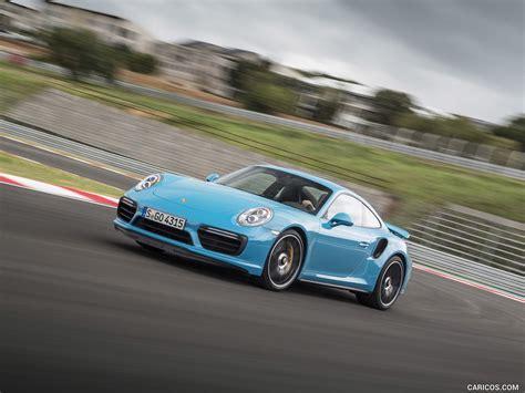 miami blue porsche turbo s 2016 porsche 911 turbo s coupe color miami blue front