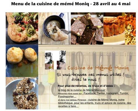 dans la cuisine de menus du 28 avril au 4 mai dans la cuisine de mémé moniq