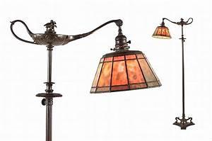 tiffany bronze quotaladdinquot floor lamp With tiffany aladdin floor lamp