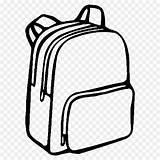 Backpack Bag Drawing Coloring Transparent Kisspng sketch template