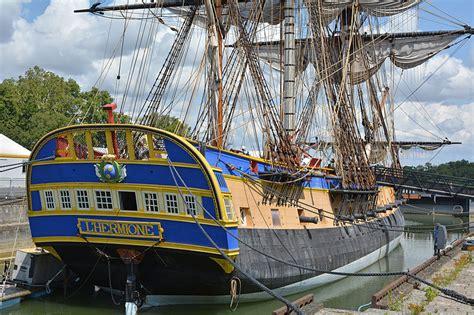 Hermione Bateau Construction by 18th Century Oak War Ship Sets Sail For Baltimore