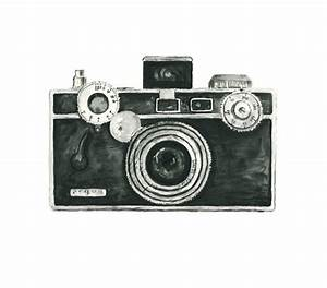 vintage camera watercolor giclee art print // ARGUS camera