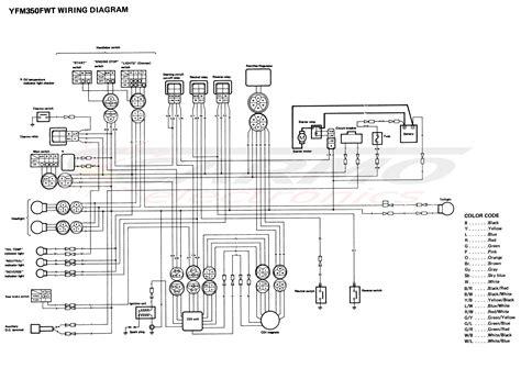 Yamaha 350 1988 Wiring Diagram on