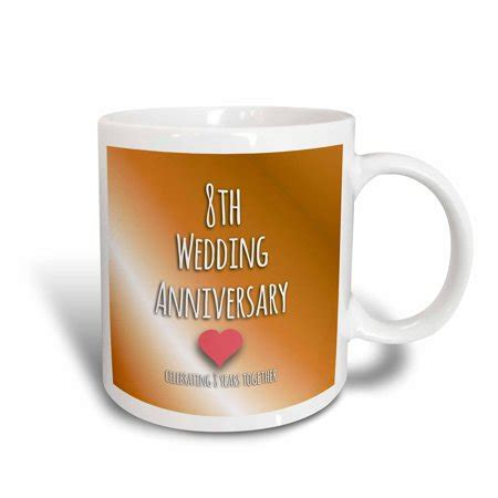 5388 eighth wedding anniversary gift 3drose 8th wedding anniversary gift bronze celebrating 8