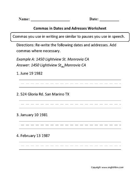 uncategorized comma usage worksheet klimttreeoflife